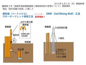 地下壁工法の変更提案